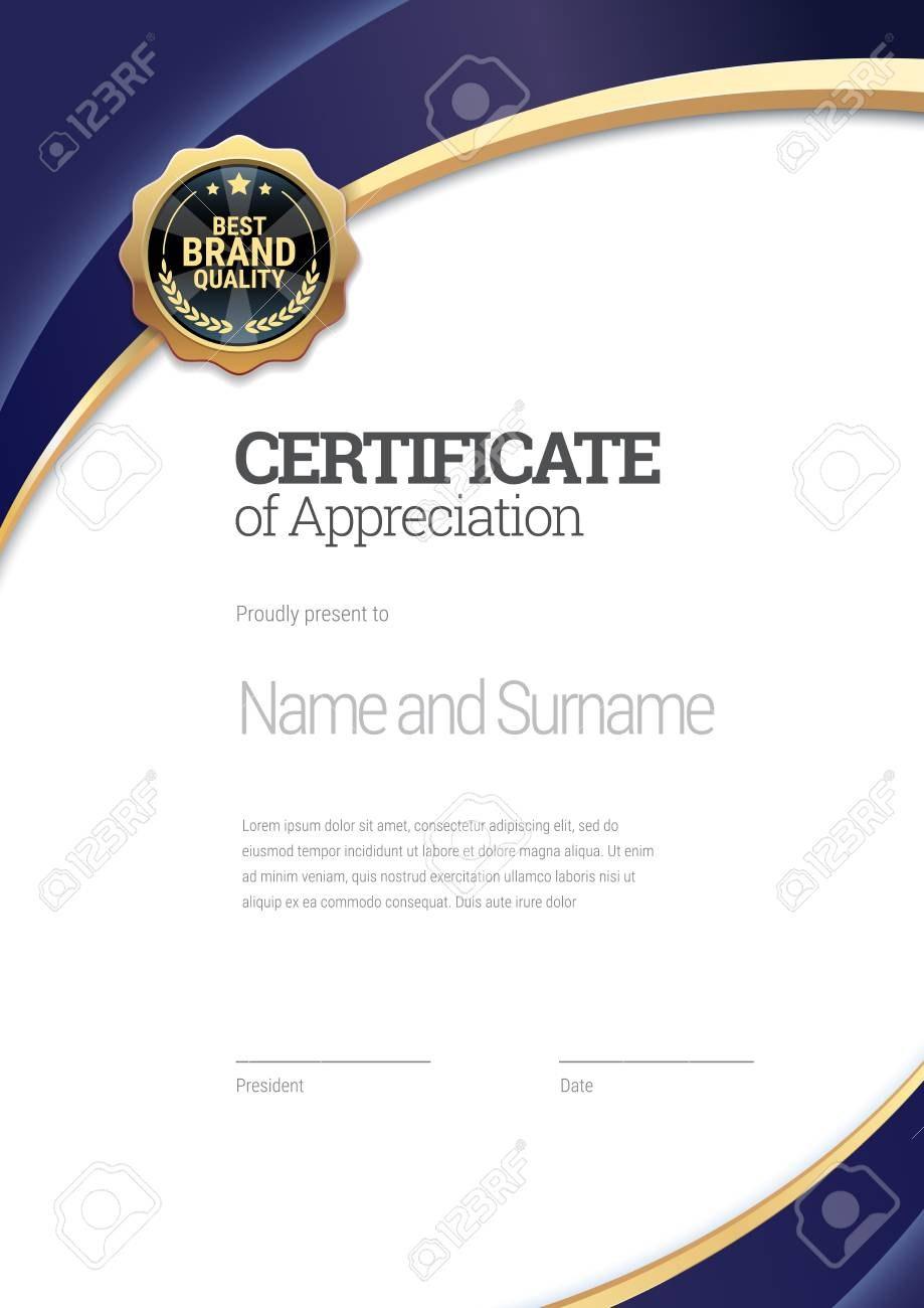 Certificate Template Diploma Of Modern Design Or Gift Certificate For Present Certificate Templates