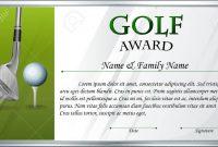 Certificate Template For Golf Award Illustration Royalty Free inside Golf Certificate Template Free