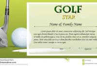 Certificate Template For Golf Star With Green Background Stock intended for Golf Certificate Template Free