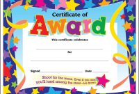 Certificate Template For Kids Free Certificate Templates with regard to Star Of The Week Certificate Template