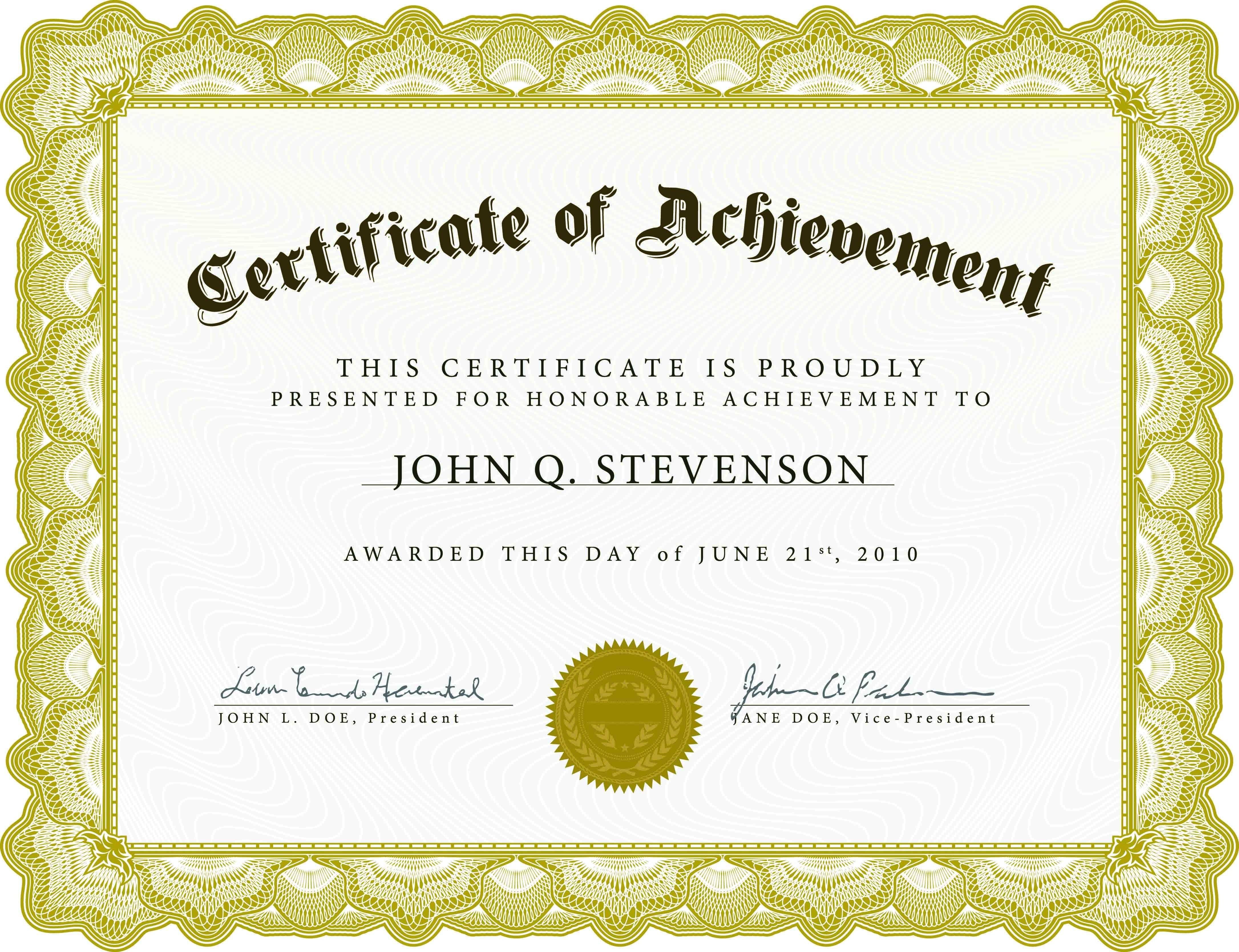 Certificate Template Free Download Microsoft Word  – Elsik Blue Cetane Inside Downloadable Certificate Templates For Microsoft Word