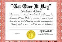 Certificate Template Funny  – Elsik Blue Cetane regarding Funny Certificate Templates