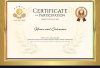 Certificate Template In Tennis Sport Theme With Vector Image for Tennis Gift Certificate Template