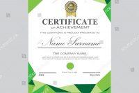 Certificate Template Modern A Horizontal Landscape Stock Vector regarding Landscape Certificate Templates