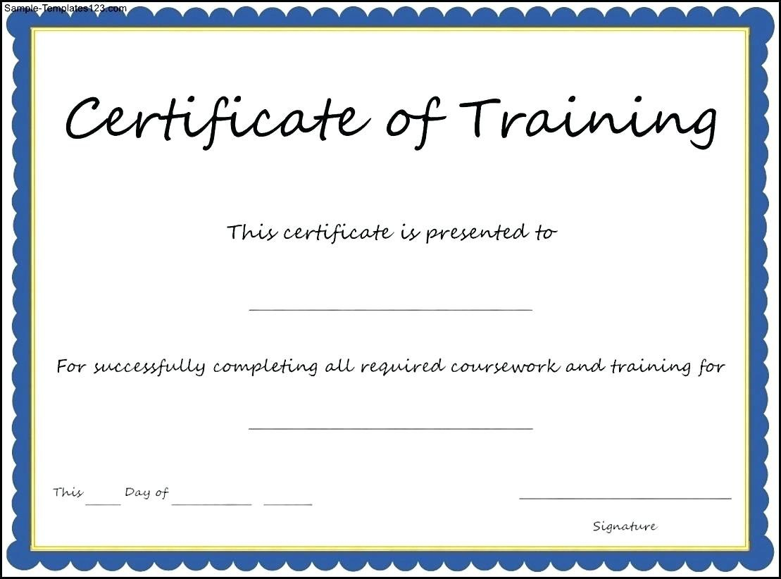 Certificate Template Training  – Elsik Blue Cetane Inside Template For Training Certificate