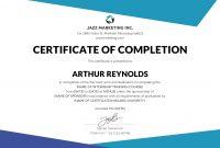Certificate Template Training Filename  Elsik Blue Cetane in Class Completion Certificate Template