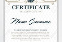 Certificate Template With Clean And Modern Pattern Luxury  Goldenqualification with Qualification Certificate Template