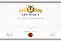 Certificate Template With First Place Concept Certificate Border in First Place Certificate Template