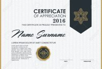 Certificate Template With Luxury And Modern Pattern Qualification for Qualification Certificate Template