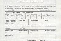 Certificate Template Word File Us Standard Certificate Of Death throughout Fake Death Certificate Template