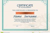 Certificate Templatediplomaa Size Vector Stock Vector inside Certificate Template Size