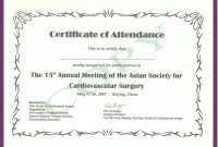 Certificate Templates Continued Medical Edeucation regarding Certificate Of Attendance Conference Template