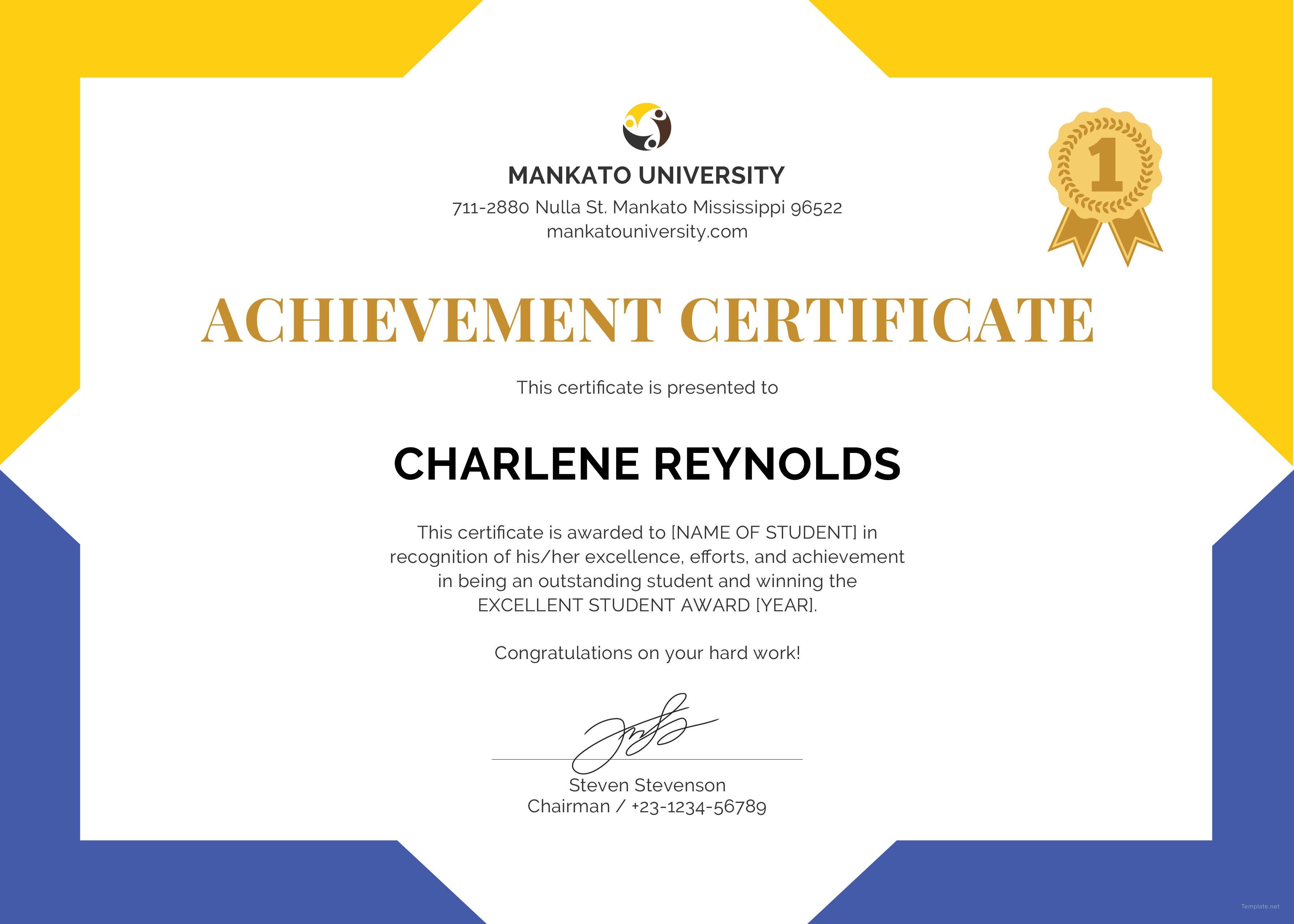 Certificate Templates For School  – Elsik Blue Cetane With Regard To Certificate Templates For School
