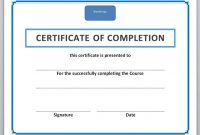 Certificate Templates For Word Or Golf Handicap With Professional in Microsoft Office Certificate Templates Free