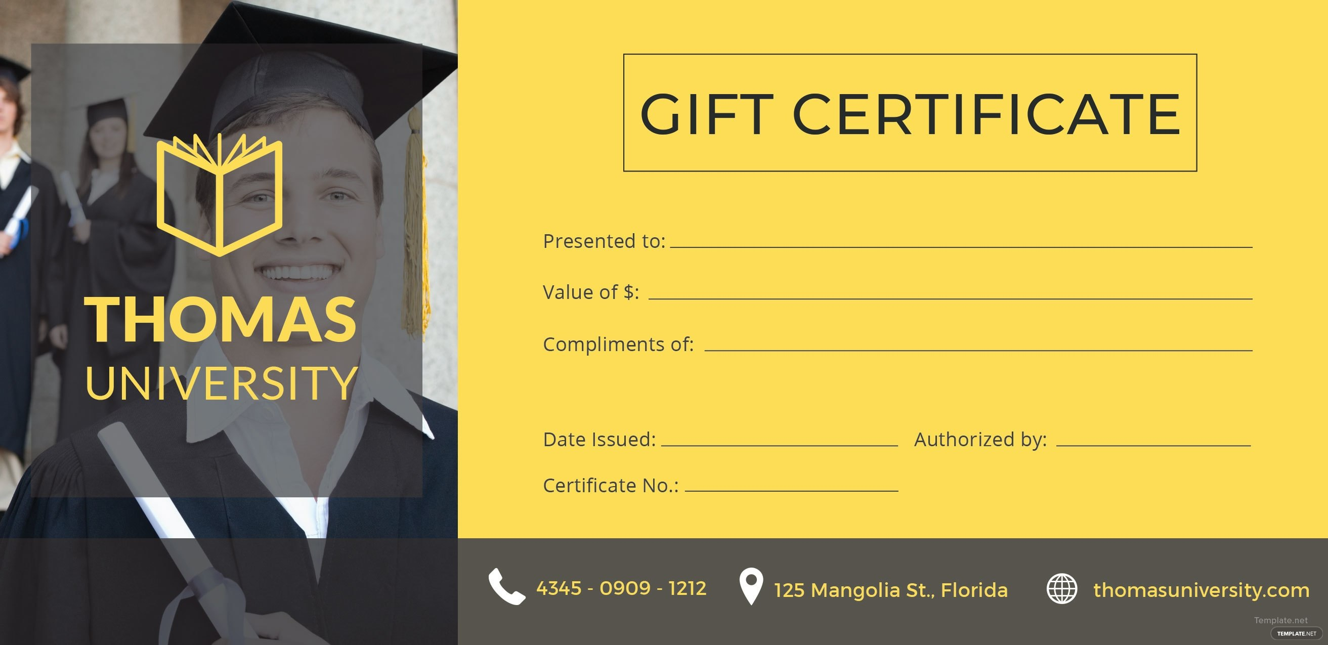 Certificate Templates Free Graduation Gift Certificate Template In Within Graduation Gift Certificate Template Free