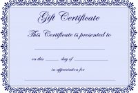 Certificate Templates  Gift Certificate Template Free  Pdf intended for Update Certificates That Use Certificate Templates