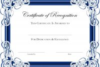 Certificate Templates In Word   Certificatetemplateword pertaining to Award Certificate Templates Word 2007