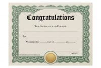 Certificate Templates  Stunning Certificate And Award Template intended for Congratulations Certificate Word Template