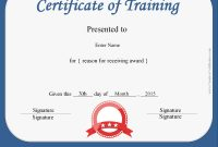 Certificate Training Template Filename  Elsik Blue Cetane throughout Template For Training Certificate