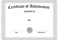 Certificate Word Templates  – Elsik Blue Cetane Pertaining To regarding Certificate Of Completion Template Word