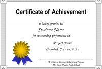 Certificateofachievementtemplate for Certificate Of Accomplishment Template Free
