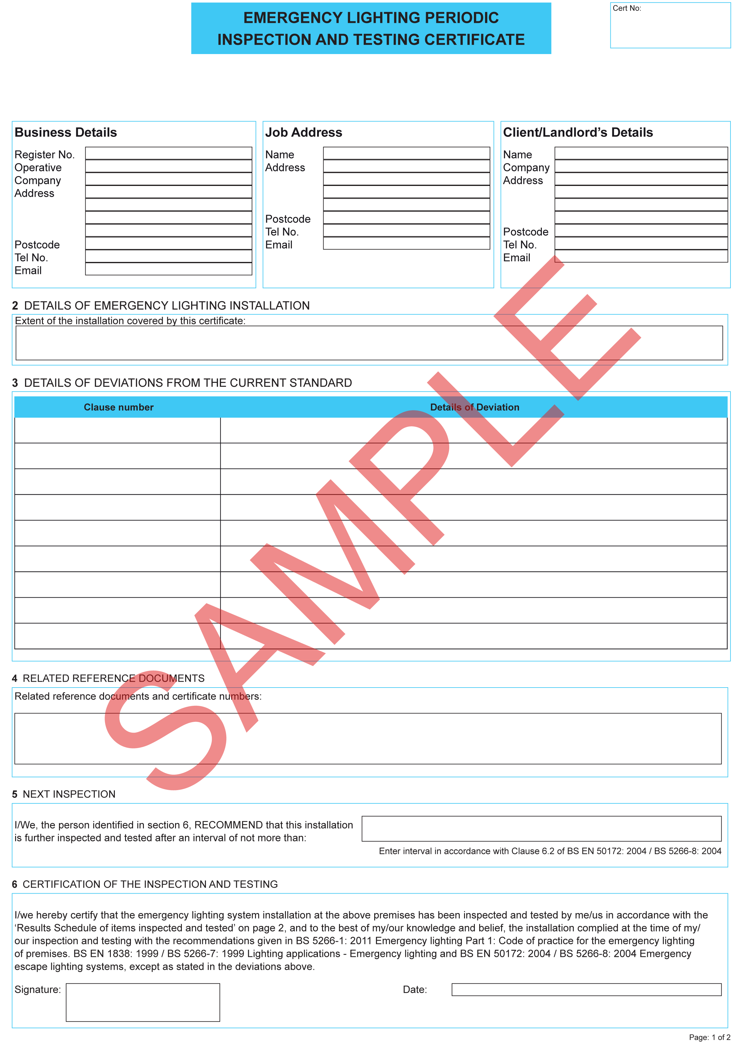 Certificates  Everycert For Electrical Isolation Certificate Template