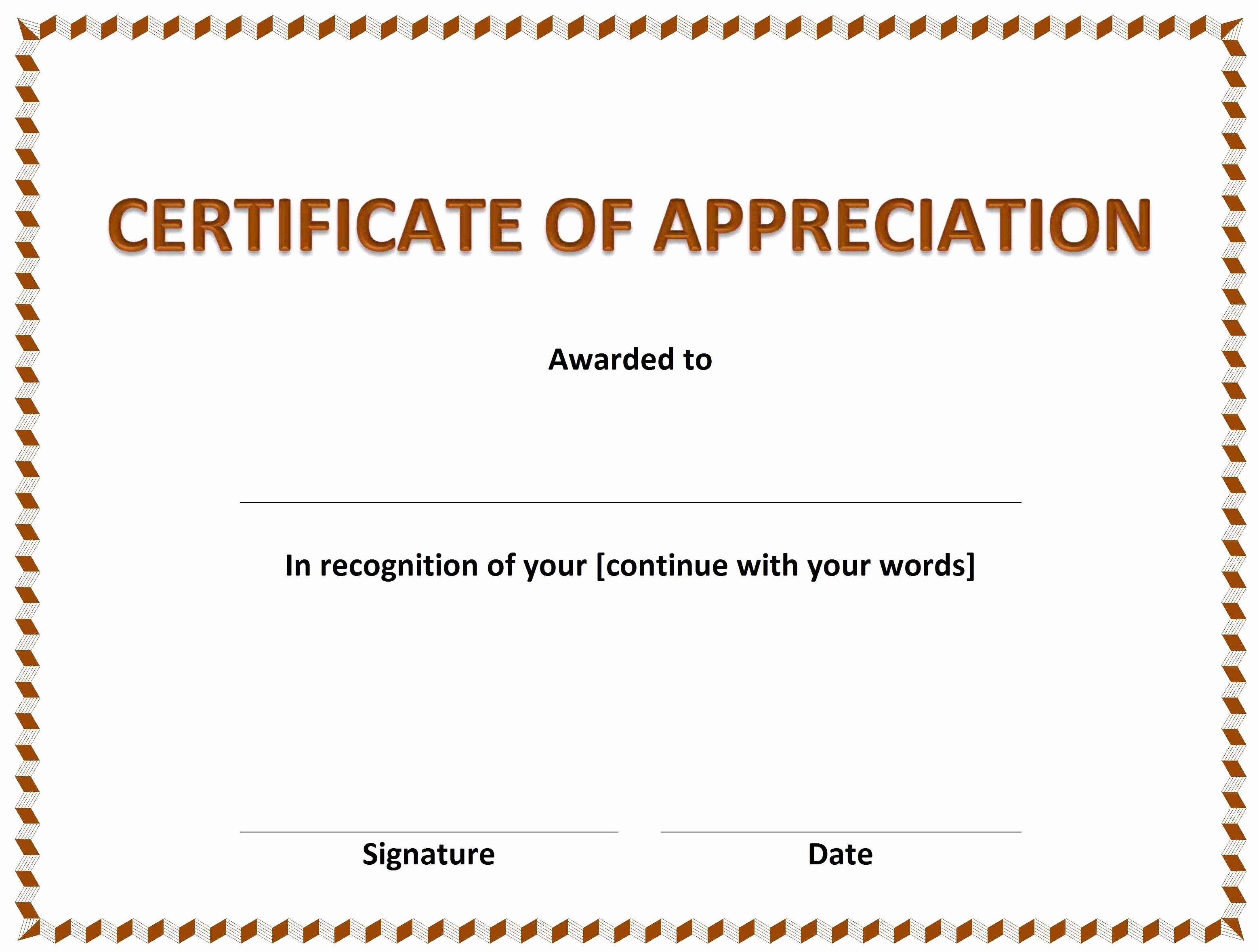 Certificates Of Appreciation Templates Printable Certificate With Free Funny Certificate Templates For Word