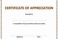Certificates Of Appreciation Templates Printable Certificate with regard to Free Funny Award Certificate Templates For Word