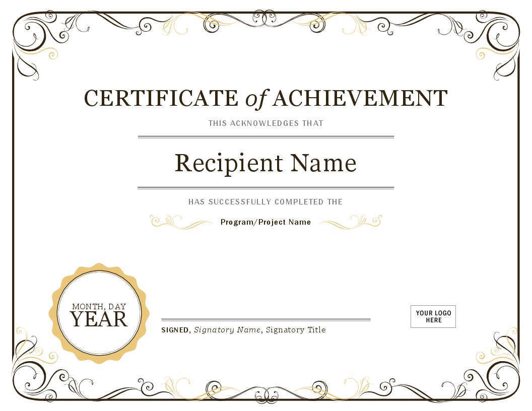Certificates  Office Throughout Formal Certificate Of Appreciation Template