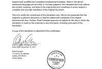 Certified French Birth Certificate Translation  Rushtranslate regarding Birth Certificate Translation Template Uscis