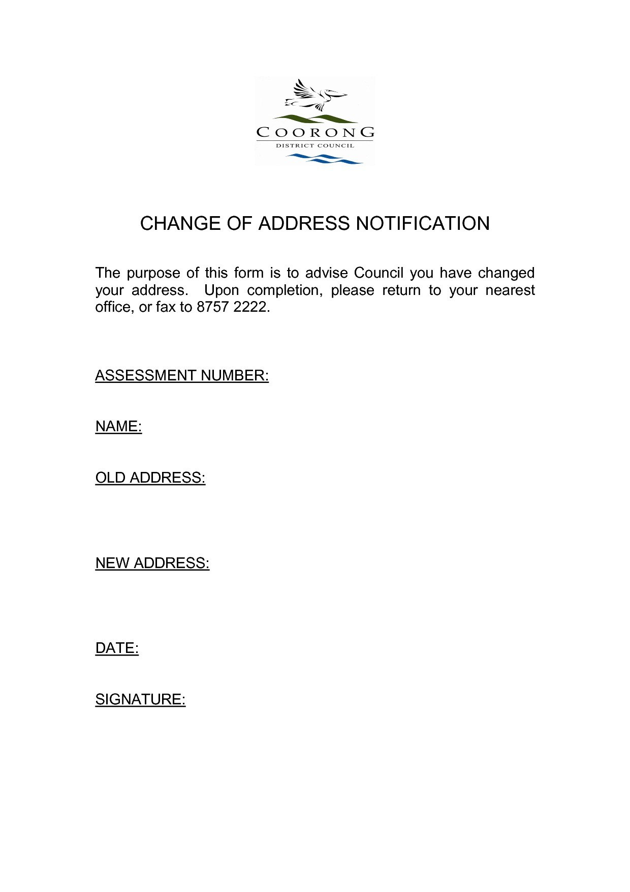 Change Of Address Notice Template   Fabulousfloridakeys With Business Change Of Address Template