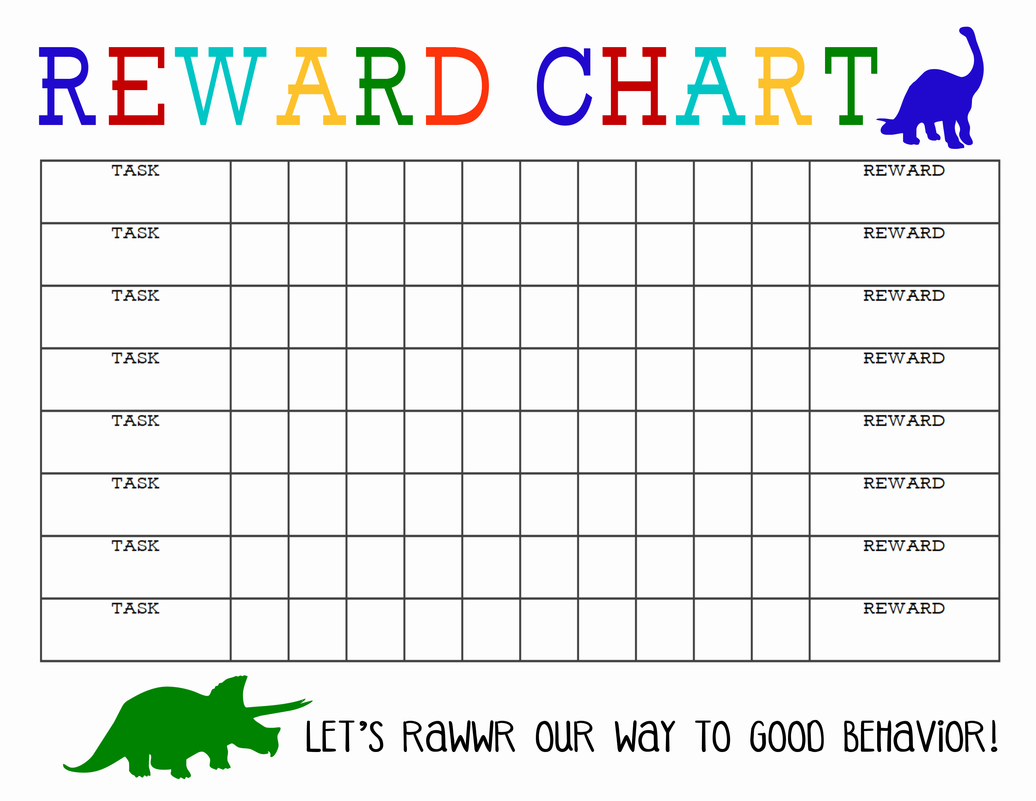 Chart Template Printable Printable Reward Charts Printable With Regard To Reward Chart Template Word