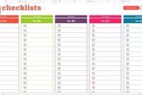 Checklist Templates – Word Excel Pdf Formats Throughout Blank with Blank Checklist Template Pdf