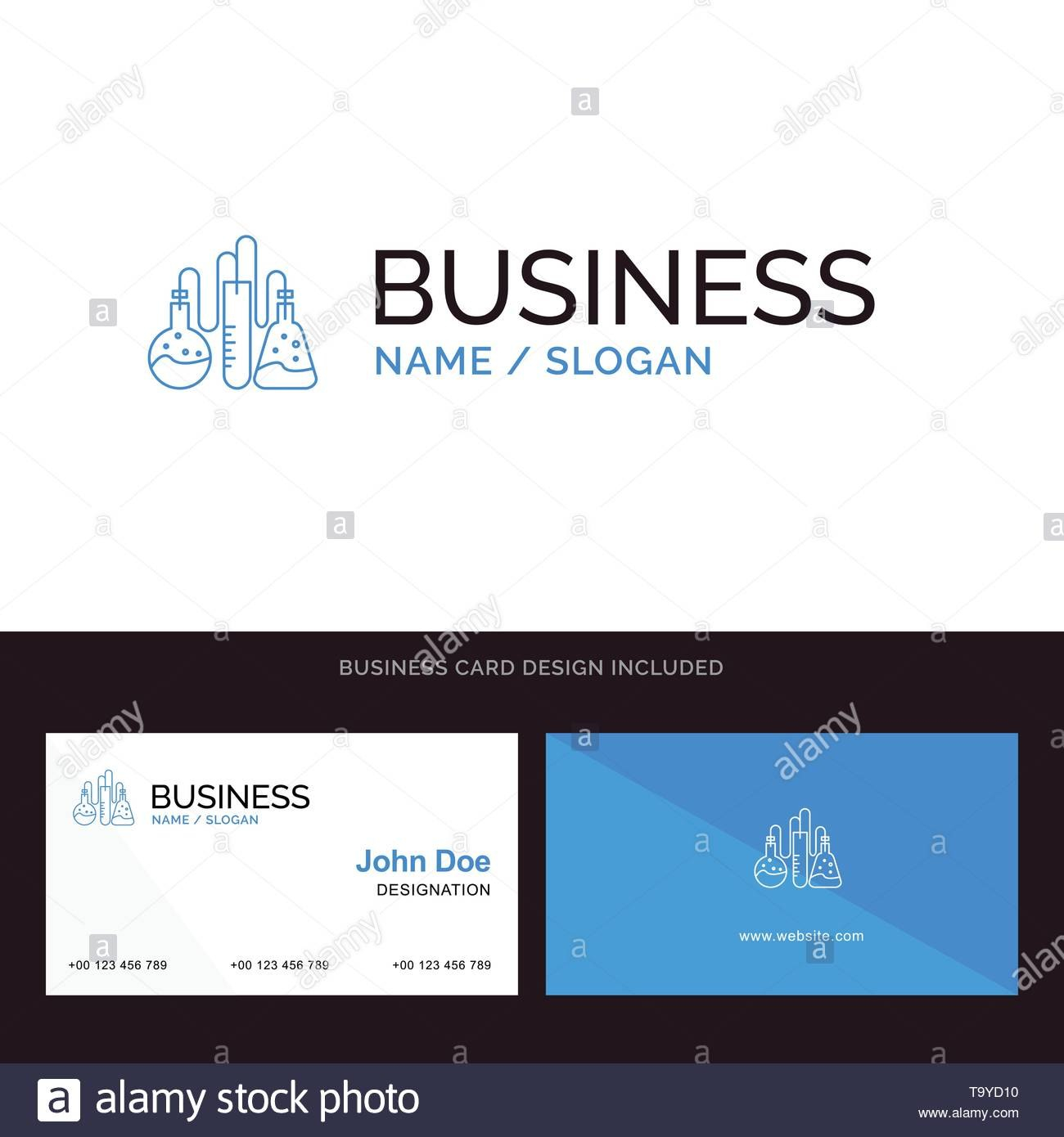 Chemical Dope Lab Science Blue Business Logo And Business Card Inside Dope Card Template