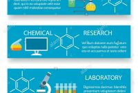 Chemistry Lab Banners Vector Science Experiment Backgrounds With pertaining to Science Fair Banner Template