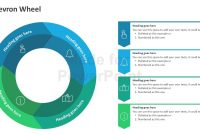 Chevron Wheel  Editable Powerpoint Shapes inside Powerpoint Chevron Template