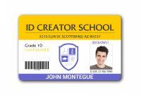 Child Id Card Template  Full Hd In   School Id Id Card pertaining to Id Card Template For Kids