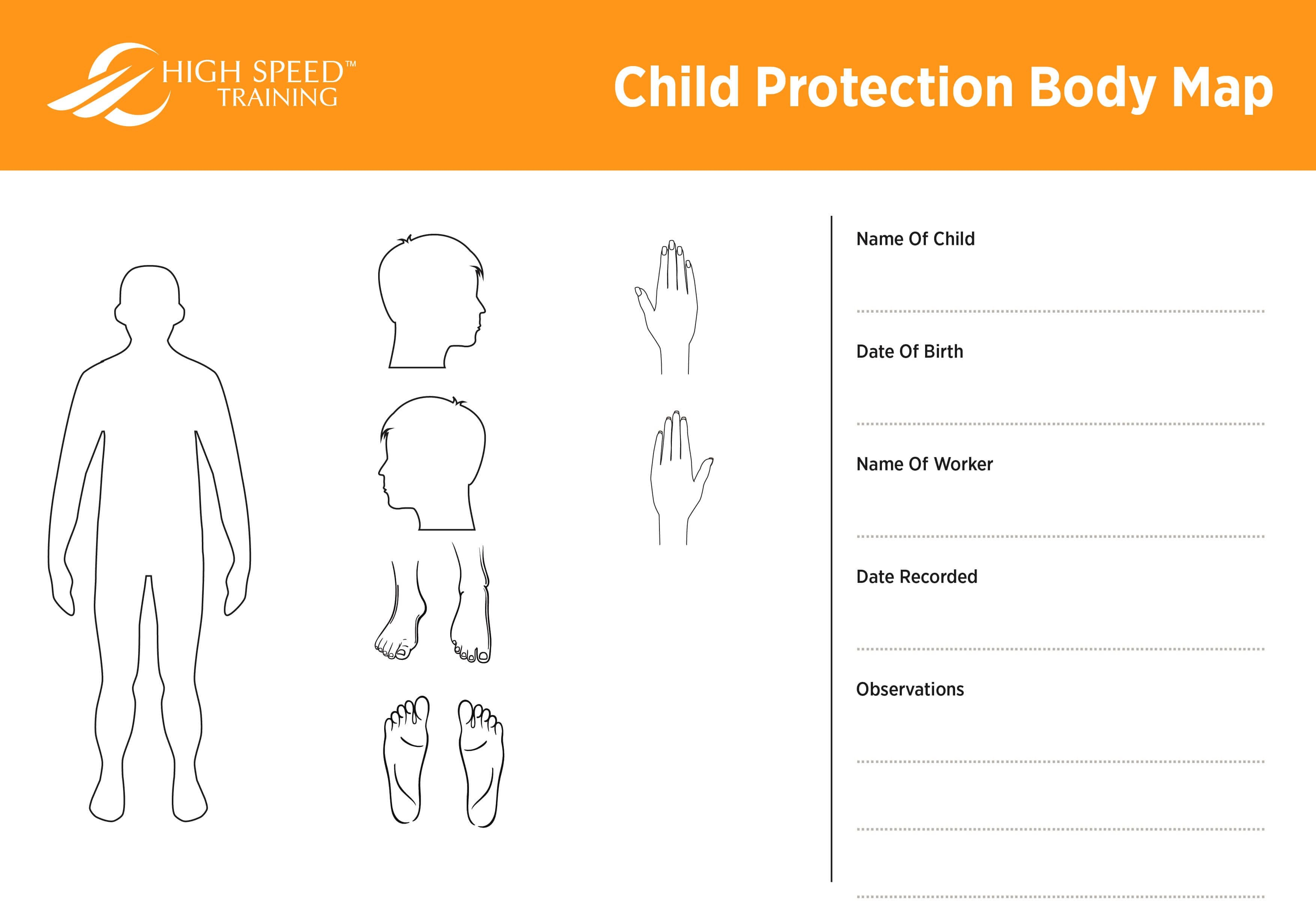 Child Protection Body Map Template  Safeguarding Advice With Blank Body Map Template