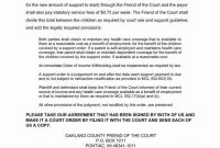 Child Support Agreement Letter Between Parents  Child Support pertaining to Notarized Child Support Agreement Template