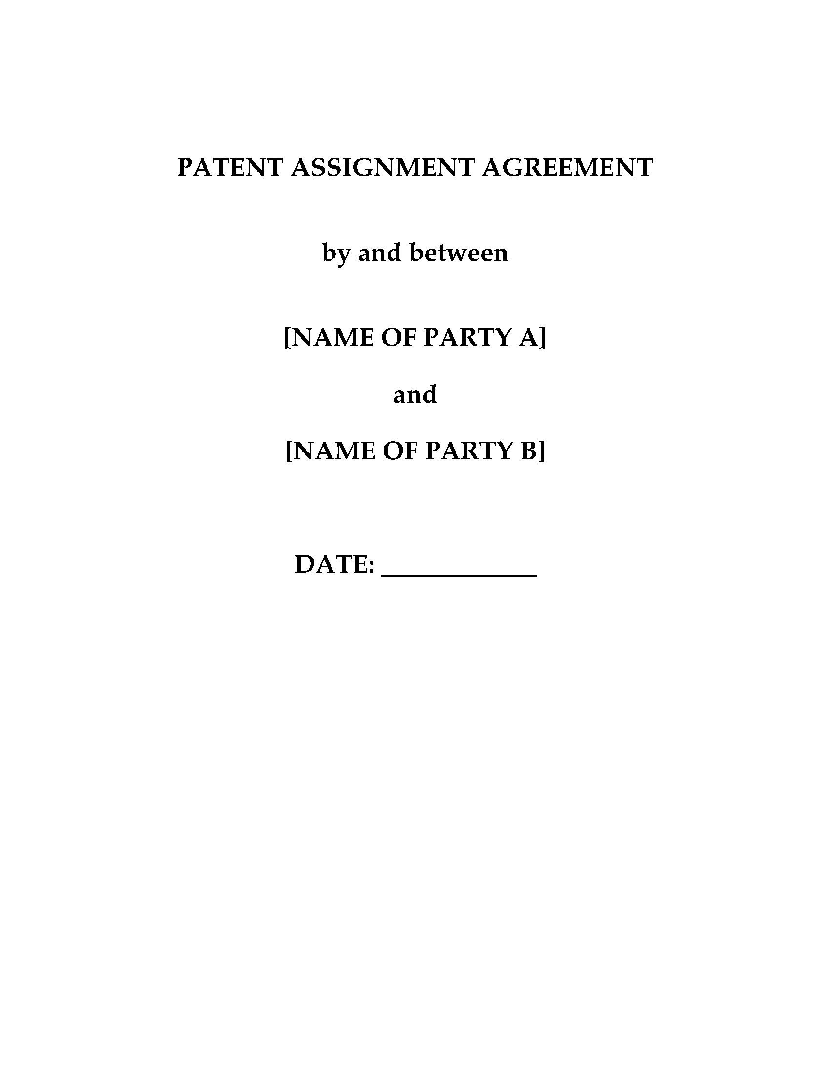 China Patent Assignment Agreement Form  Legal Forms And Business Regarding Invention Assignment Agreement Template