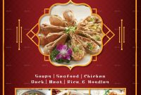 Chinese Food Menu Designs  Examples – Psd Ai Docs Pages with Asian Restaurant Menu Template