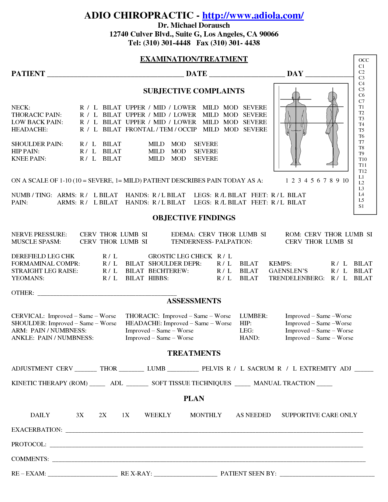 Chiropractic Soap Notes  Dc Documentation  Soap Note Chiropractic For Chiropractic X Ray Report Template
