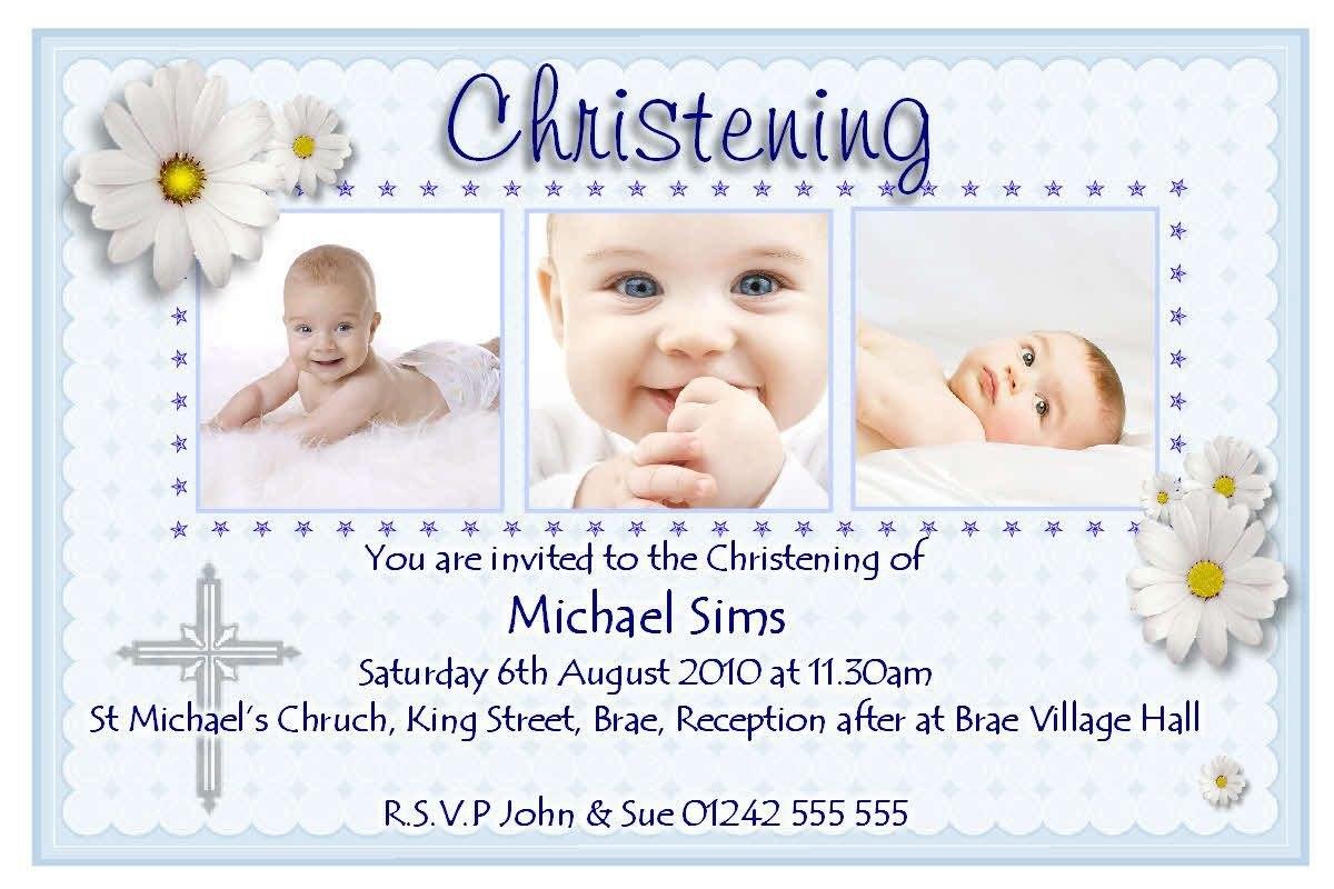 Christening Invitation Cards Templates Free Download  Invitations For Baptism Invitation Card Template
