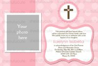 Christening Invitation For Baby Girl Blank Template  Invitation intended for Free Christening Invitation Cards Templates