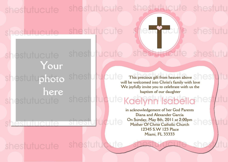 Christening Invitation For Baby Girl Blank Template  Invitation With Blank Christening Invitation Templates