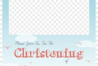 Christening Png Free  Baptism Invitation Template Png Transparent intended for Christening Banner Template Free