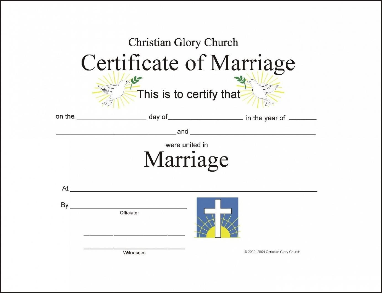 Christian Wedding Certificate Sample  Google Search  Download In Christian Certificate Template