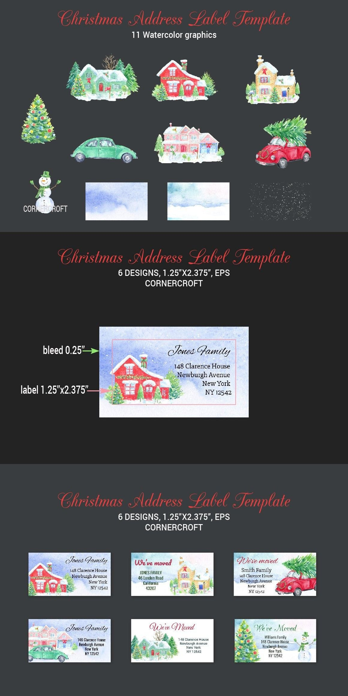 Christmas Address Label Template  Print Templates  Christmas Regarding Christmas Address Labels Template