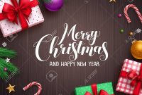 Christmas Banner Vector Background Template With Merry Christmas intended for Merry Christmas Banner Template