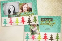 Christmas Card Templates Vol  X Inch Card Template Th with regard to Free Photoshop Christmas Card Templates For Photographers